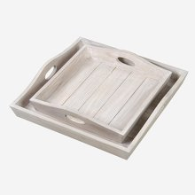 Sammie Wooden Tray Set (Set of 2) - Light Natural