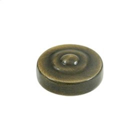 "Screw Cover, Round, Dimple, 1"" Diam - Antique Brass"