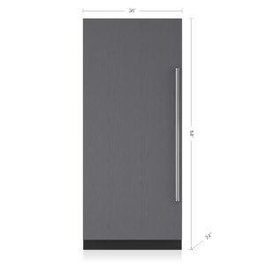"Subzero36"" Designer Column Refrigerator with Internal Dispenser - Panel Ready"
