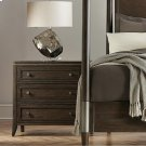 Joelle - Three Drawer Nightstand - Carbon Gray Finish Product Image