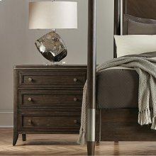 Joelle - Three Drawer Nightstand - Carbon Gray Finish