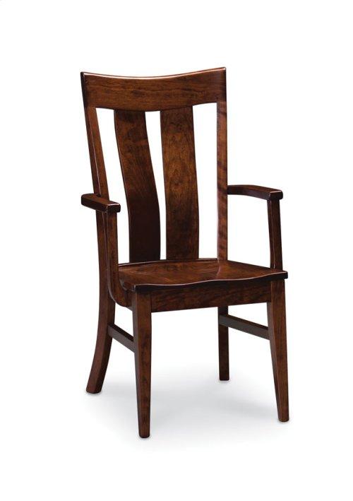 Lincoln Arm Chair, Fabric Cushion Seat