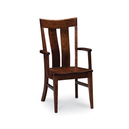 Lincoln Arm Chair, Wood Seat
