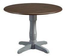 Pedestal Dining Table Base - Gray Finish