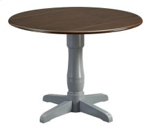 Pedestal Dining Table Base - Gray Finish