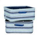 Nightstand Baskets, 2-Pack - Blue Scales Product Image