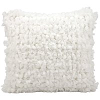"""Shag Dl658 White 20"""" X 20"""" Throw Pillow Product Image"""
