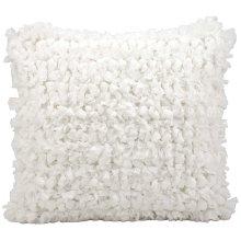 "Shag Dl658 White 20"" X 20"" Throw Pillow"