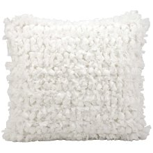 "Shag Dl658 White 20"" X 20"" Throw Pillow"