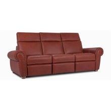 "Washington Sofa with decorative nails 5/8"" (#54) Antique Gold. (041-071-042; Wood legs - Tobacco T2)"