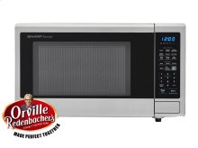 1.4 cu. ft. 1000W Sharp Stainless Steel Carousel Countertop Microwave Oven (SMC1442CS)