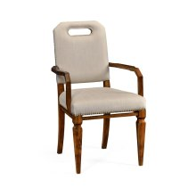 Contemporary Camden Dining Armchair, Upholstered in MAZO
