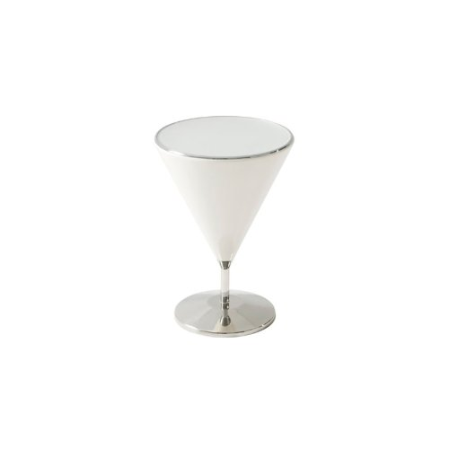 quartz' Mixology (stainless Steel, Small) Accent Table, quartz' Lacquer