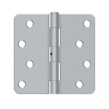 "4""x 4""x 1/4"" Radius Hinge, Residential - Brushed Chrome"