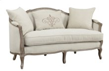 Emerald Home Salerno Settee W/2 Pillows & 1 Kidney Pillow Sand Gray/distressed U3693a-01-09