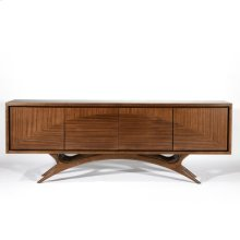 Swoop Media Cabinet-Ribbon Mahogany