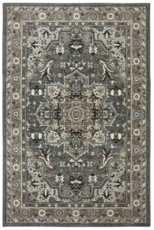 Rhodes Ash Grey Rectangle 3ft 6in X 5ft 6in