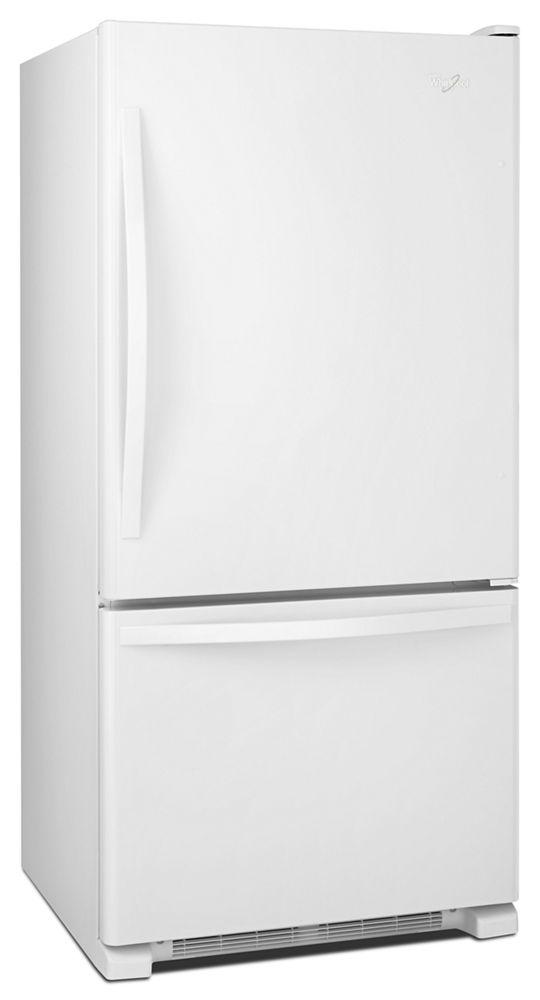 Hidden · Additional 33 Inches Wide Bottom Freezer Refrigerator With  SpillGuard Glass Shelves   22 Cu