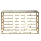 Marble Top Gold Foil Console - Top Product Image