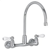 Heritage 2-Handle High-Arc Wall-Mount Kitchen Faucet  American Standard - Polished Chrome