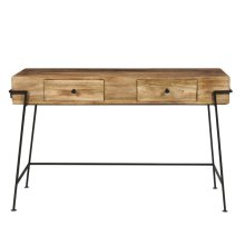 Wood Metal Writing Desk