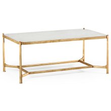 glomise & Gilded Iron Rectangular Coffee Table