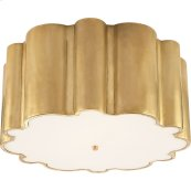 Visual Comfort AH4021NB-FG Alexa Hampton Markos 4 Light 26 inch Natural Brass Flush Mount Ceiling Light in Frosted Glass