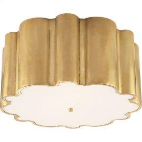 Visual Comfort AH4021NB-FG Alexa Hampton Markos 4 Light 26 inch Natural Brass Flush Mount Ceiling Light in Frosted Glass