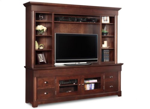 """Hudson Valley 84"""" HDTV Cabinet With Hutch"""