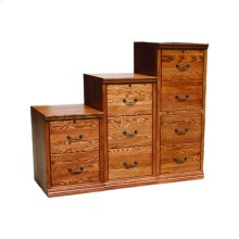 "A-T647 Traditional Alder 3-Drawer Locking Vertical File Cabinet, 21""W x 21""D x 43 1/4""H"