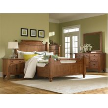 Attic Heirlooms Feather Bed, Natural Oak, Queen