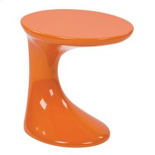 Slick Side Table With High Gloss Orange Finish By Ave Six