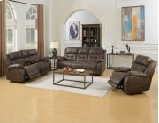 "Aria Pwr-Pwr Glider Recliner, Saddle Brown,40.5""x44""x41"" Product Image"