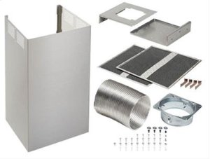 Optional Non-Duct Kit for BEST Notte WC53I Series Chimney Range Hoods, in Black Stainless Steel