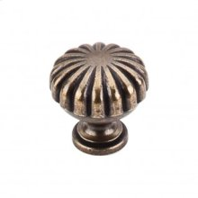 Melon Knob 1 1/4 Inch - German Bronze