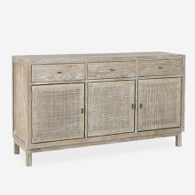 Britton Sideboard with Woven Panels - Grey Wash