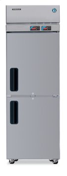 Dual Temp Cabinet, Single Section Upright, Half Stainless Door Product Image