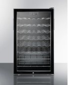 "20"" Wide Freestanding Wine Cellar With Lock and Digital Thermostat Product Image"
