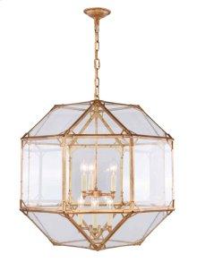 Gordon Collection 6-Light Golden Iron Finish Chandelier