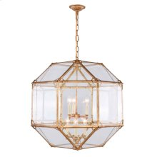 Gordon Collection 6-Light Golden Iron Finish Chandelier
