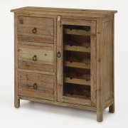 Wine Cabinet W/ 3 Drawers Product Image