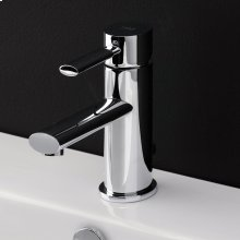 Deck-mount single-hole faucet with a lever handle and pop-up, ADA compliant.