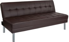 """Metropolitan 67"""" Brown Futon Bed and Couch"""