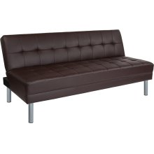"Metropolitan 67"" Brown Futon Bed and Couch"