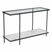 Winslett Console Table Clear & White & Matt Black