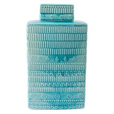 Tribal Covered Jar Blue Product Image