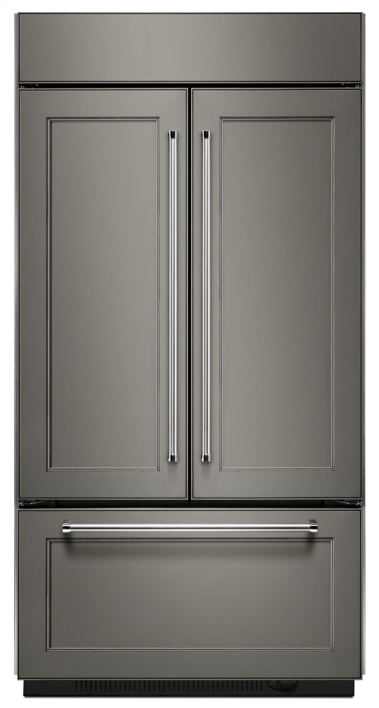 "Kitchenaid24.2 Cu. Ft. 42"" Width Built-In Panel Ready French Door Refrigerator With Platinum Interior Design"