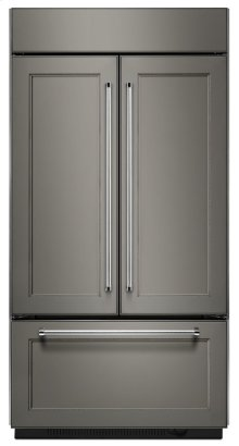 """20.8 Cu. Ft. 36"""" Width Built In Panel Ready French Door Refrigerator with Platinum Interior Design"""