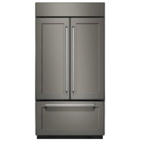 "20.8 Cu. Ft. 36"" Width Built-In Panel Ready French Door Refrigerator with Platinum Interior Design"