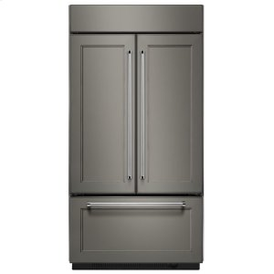 "Kitchenaid20.8 Cu. Ft. 36"" Width Built In Panel Ready French Door Refrigerator with Platinum Interior Design"